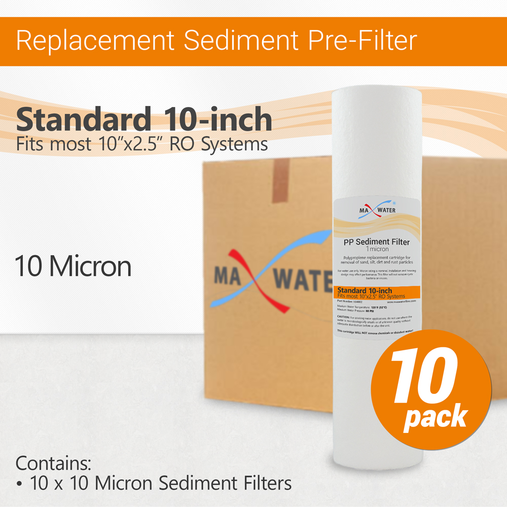1 Micron High Capacity RO SED 10 inch Sediment Water Filter Replacement